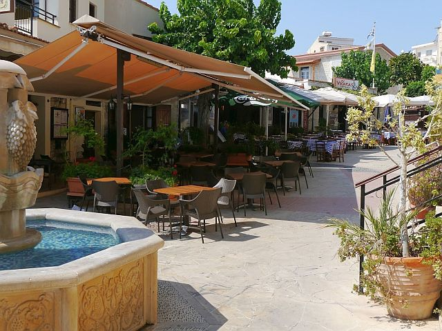 Pissouri Square - the heart of this traditional Cypriot village
