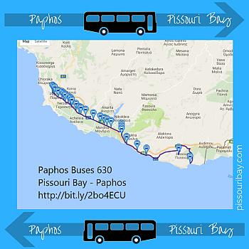 Pissouri Bay - Paphos bus 630