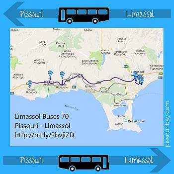 Pissouri - Limassol bus 70