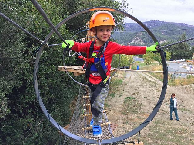 Family fun at Sparti Rope Adventure Park, Platres, Troodos