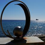 Sculpture on Limassol seafront