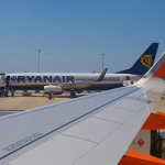 Ryanair and easyJet planes at PFO