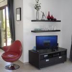 Plenty of viewing and listening options at Ampeli Villa