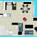 Downstairs room layout