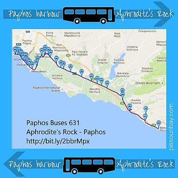Aphrodite's Rock - Paphos bus 631