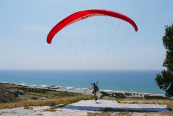 Paragliding at Kourion