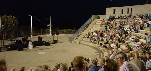 Waiting for the show at Pissouri amphitheatre