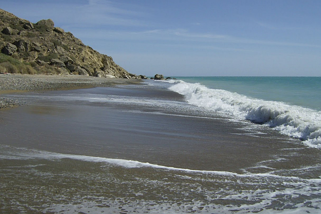 The quiet end of Pissouri beach