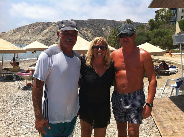 Chris, Mo and Jeff at Chris Watersports Pissouri Bay