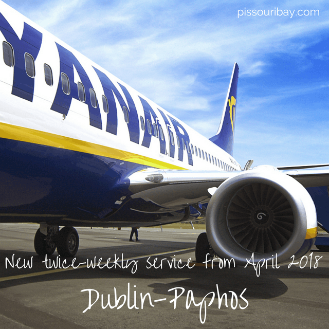 Ryanair - new 2018 Dublin-Paphos route