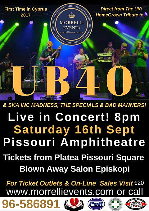 UB40 tribute 16 Sept