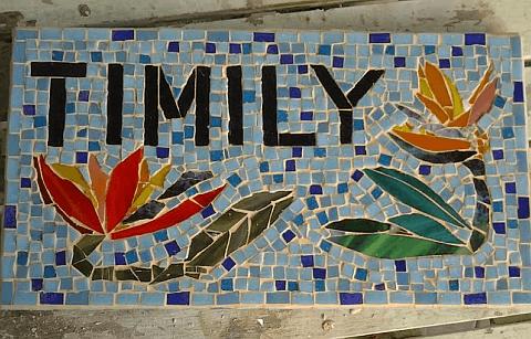 Linda Gardener mosaic artist Polis