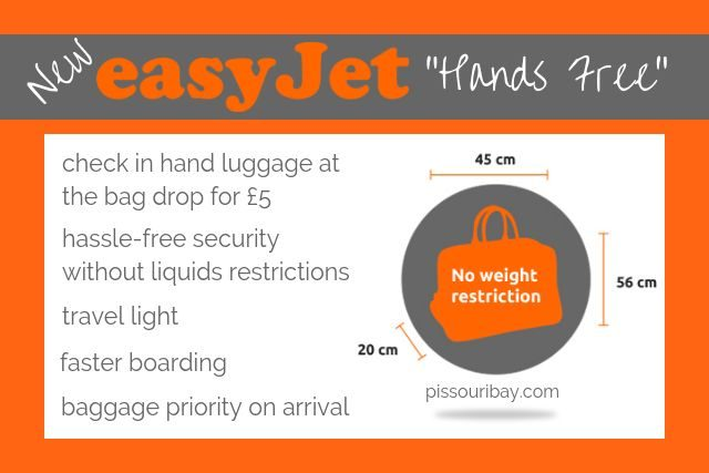 New easyJet Hands Free 5