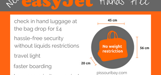 New easyJet Hands Free luggage
