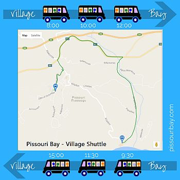 Pissouri Bay - village shuttle - 2018