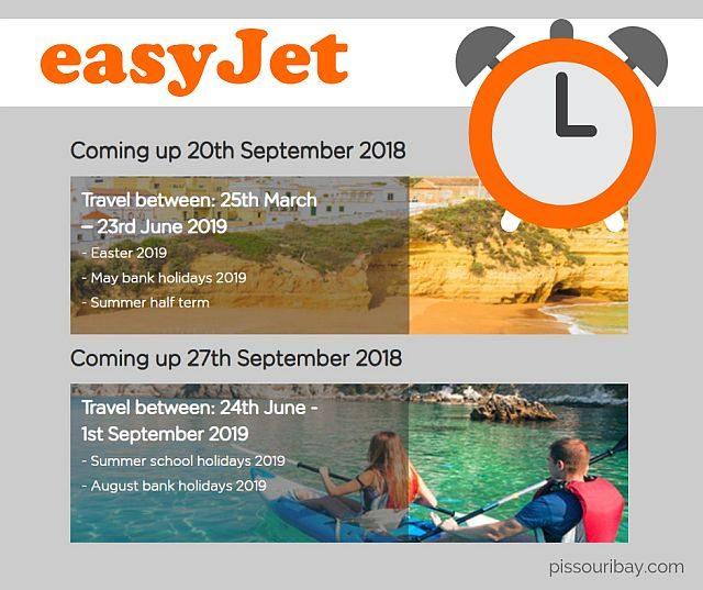 easyJet summer flights 2019